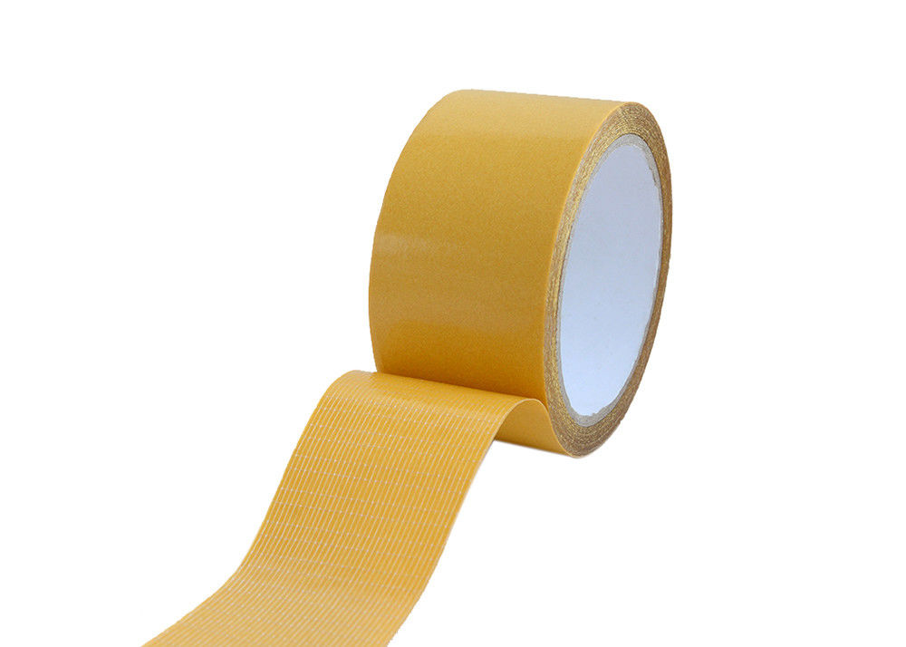 Double Sided Self - Adhesive Fiberglass Mesh Tape With Yellow Release Paper